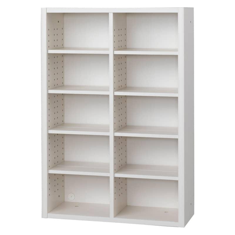 書棚 EP−75オープンAホワイト+ホワイト:書棚