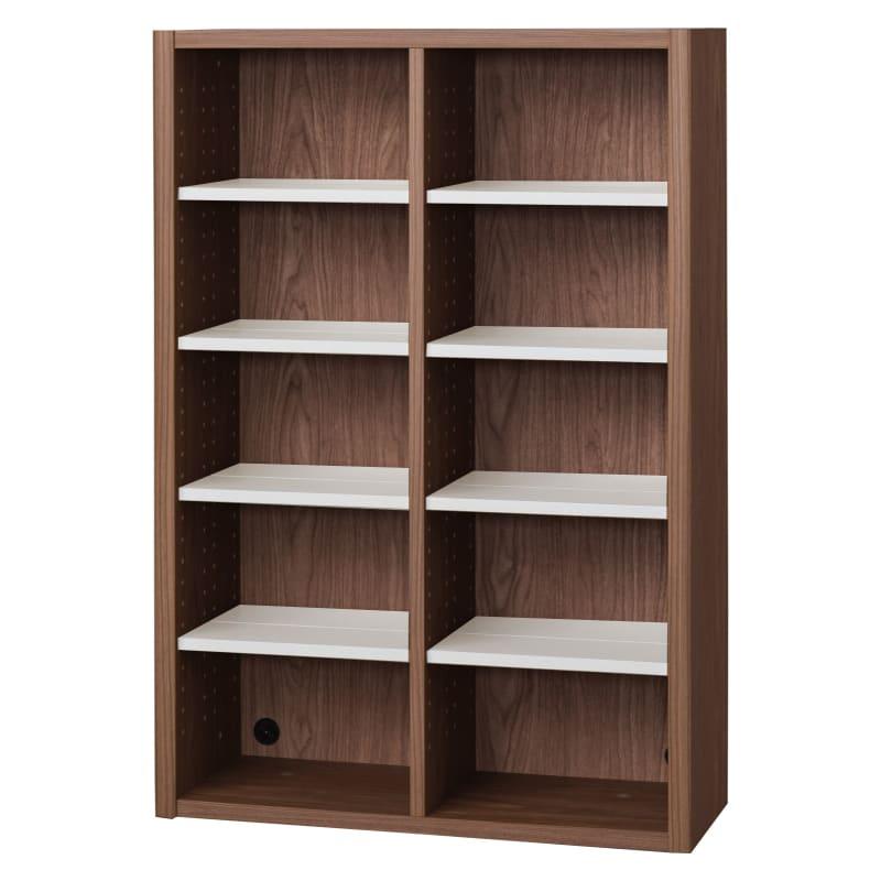 書棚 EP−75オープンAモカ+チェリー:書棚