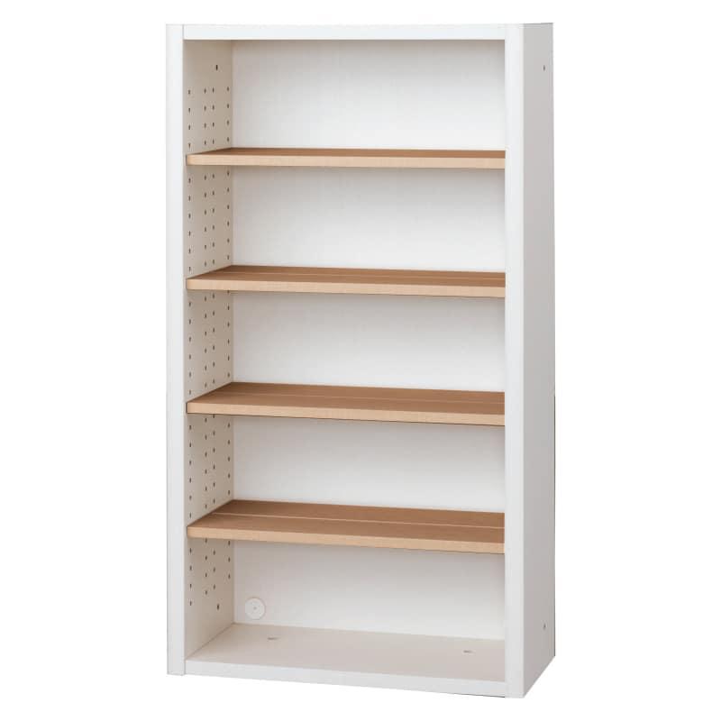 書棚 EP−60オープンAホワイト+チェリー:書棚
