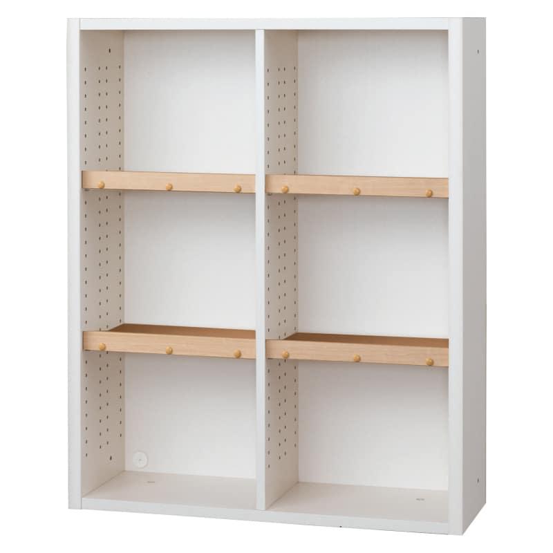 書棚 EP−90オープンBホワイト+チェリー:書棚