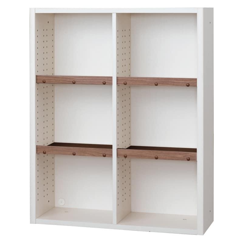 書棚 EP−90オープンBホワイト+モカ:書棚