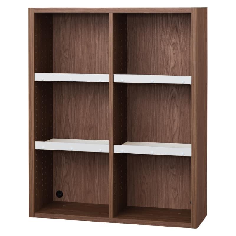 書棚 EP−90オープンBモカ+ホワイト:書棚