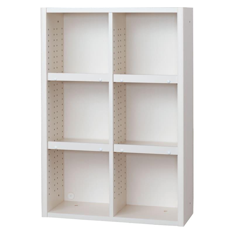 書棚 EP−75オープンBホワイト+ホワイト:書棚