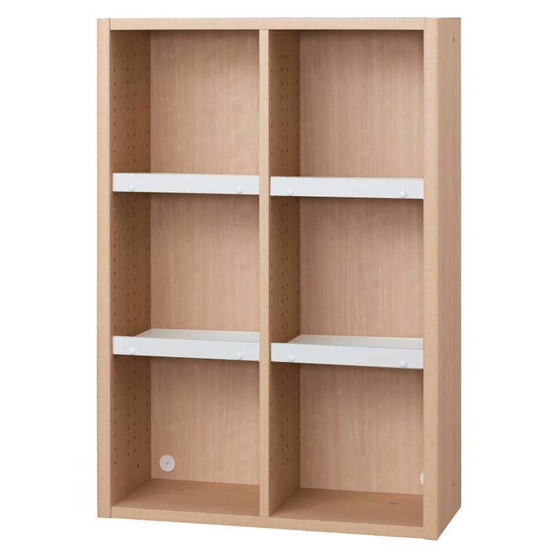 書棚 EP−75オープンBチェリー+ホワイト:書棚