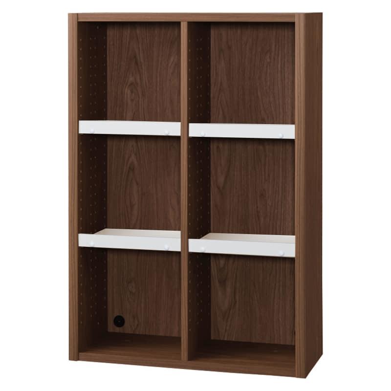 書棚 EP−75オープンBモカ+ホワイト:書棚