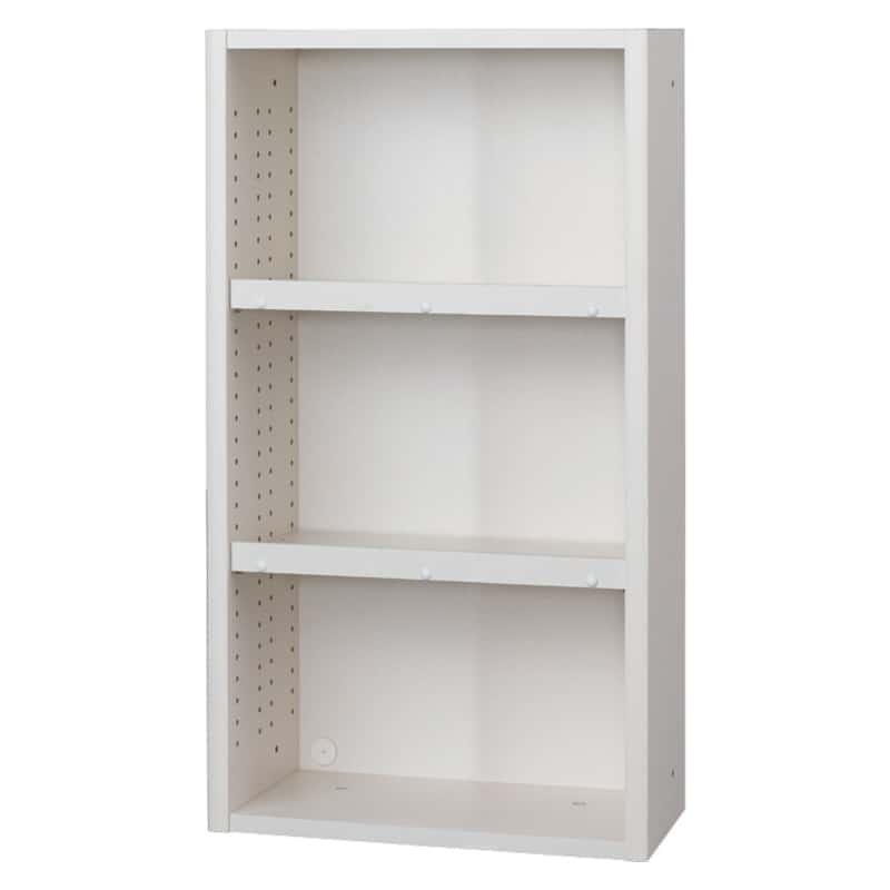 書棚 EP−60オープンBホワイト+ホワイト:書棚