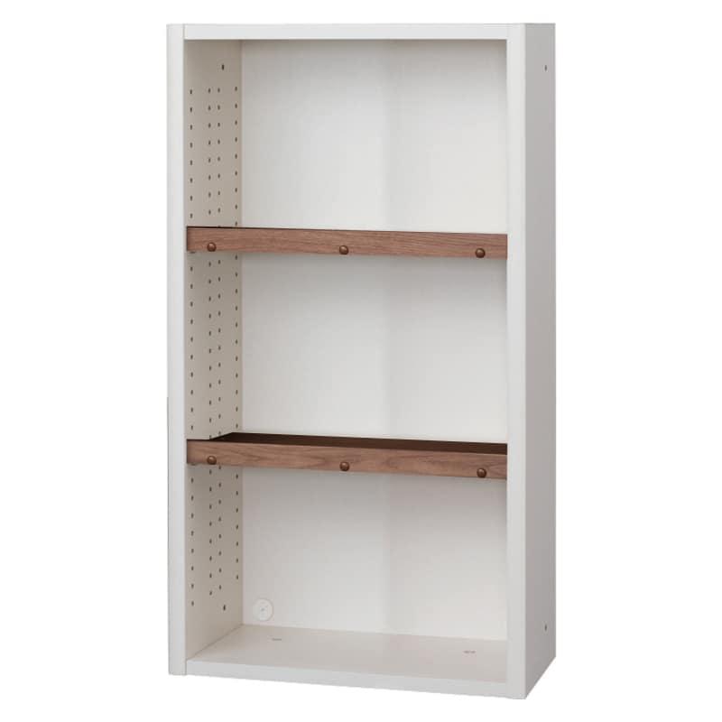 書棚 EP−60オープンBホワイト+モカ:書棚