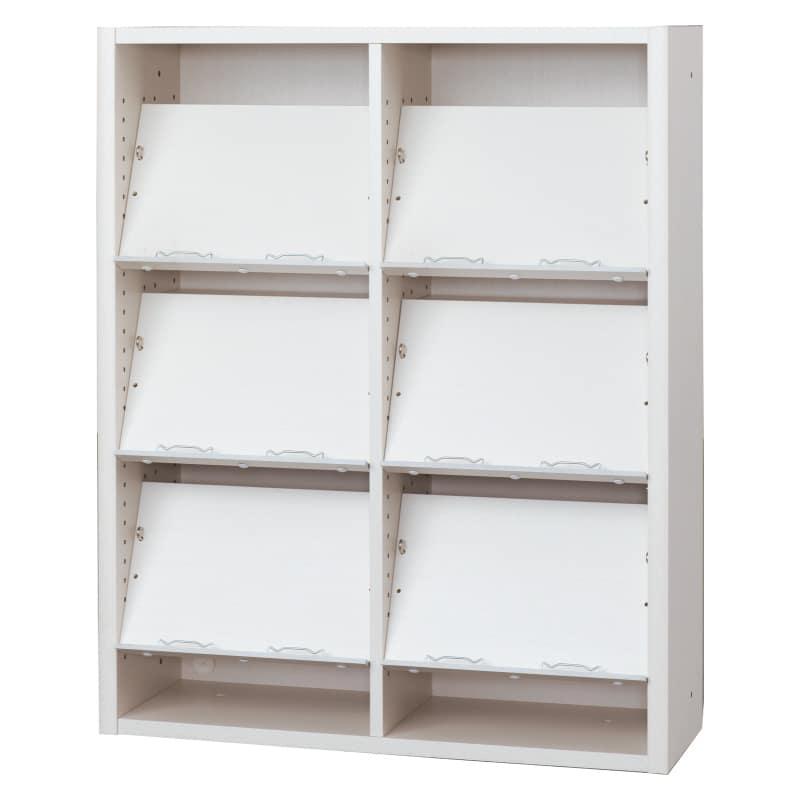 書棚 EP−90オープンCホワイト+ホワイト:書棚