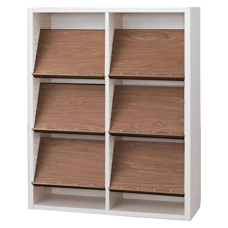 書棚 EP−90オープンCホワイト+モカ:書棚