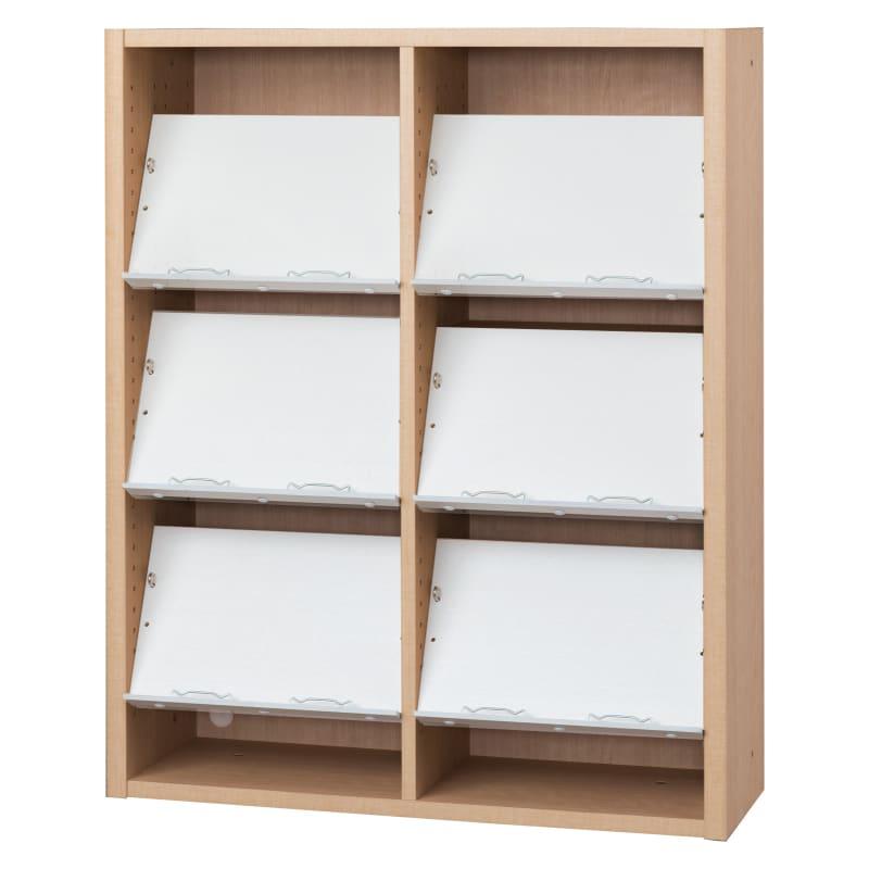 書棚 EP−90オープンCチェリー+ホワイト:書棚