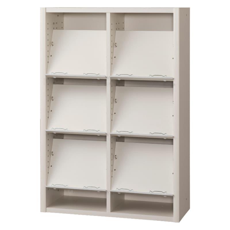 書棚 EP−75オープンCホワイト+ホワイト:書棚