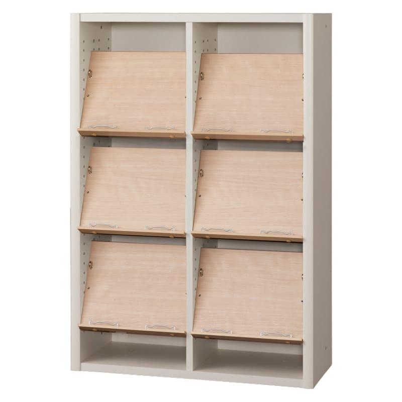 書棚 EP−75オープンCホワイト+チェリー:書棚