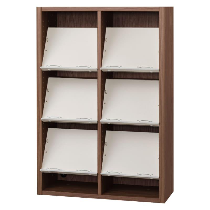 書棚 EP−75オープンCモカ+ホワイト:書棚