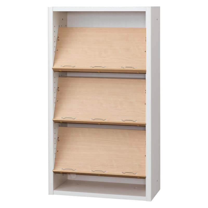 書棚 EP−60オープンCホワイト+チェリー:書棚
