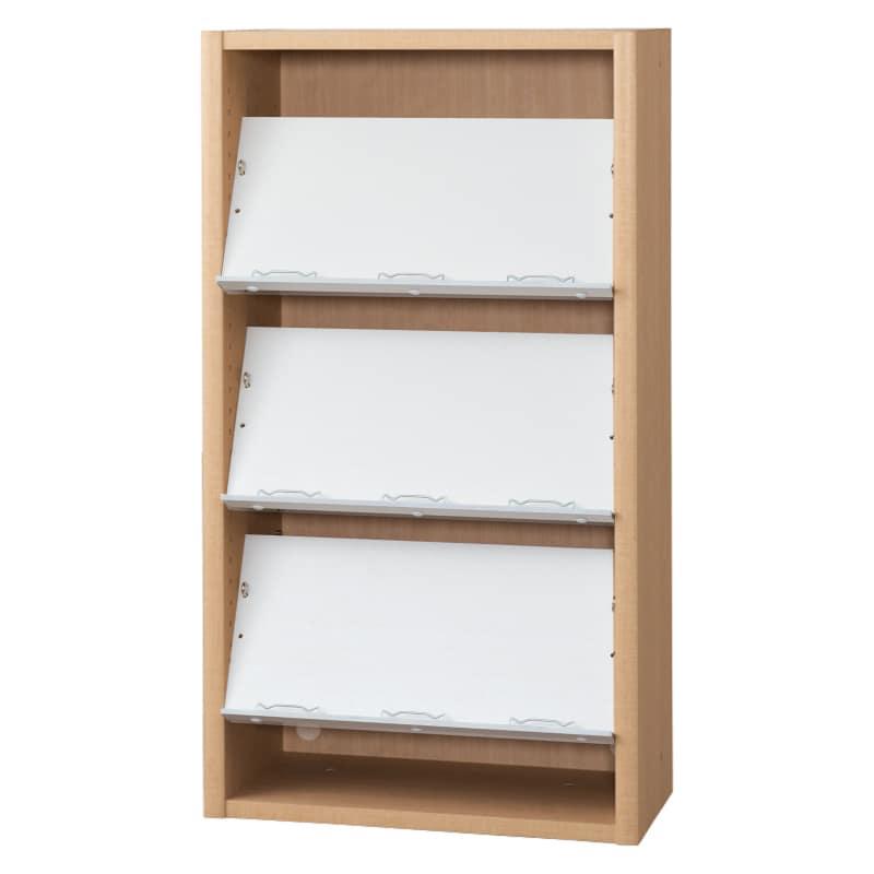 書棚 EP−60オープンCチェリー+ホワイト:書棚