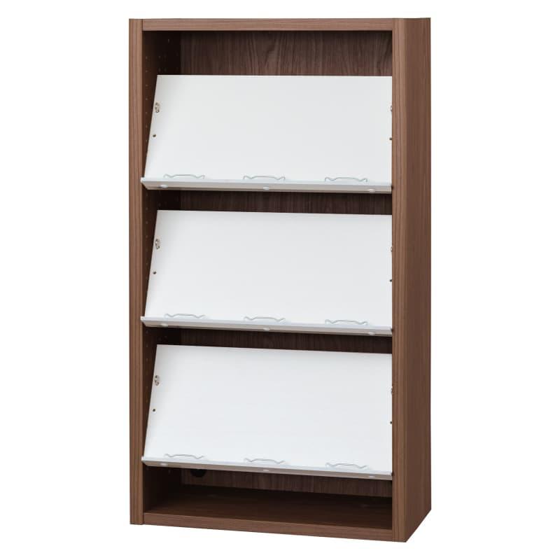 書棚 EP−60オープンCモカ+ホワイト:書棚