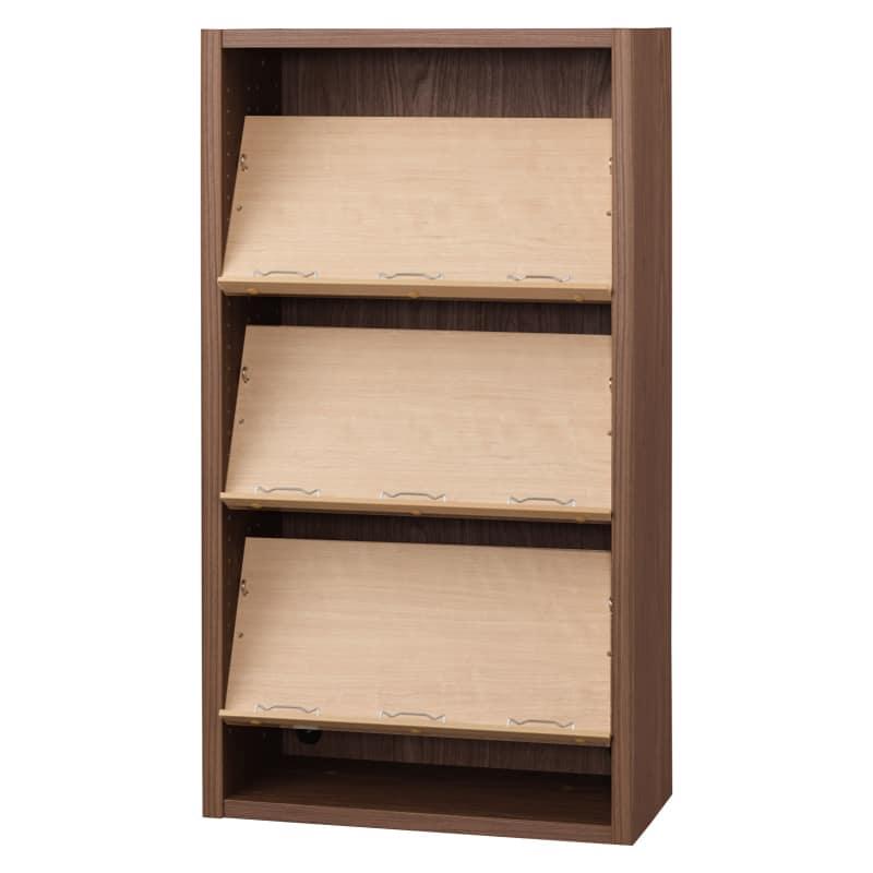 書棚 EP−60オープンCモカ+チェリー:書棚