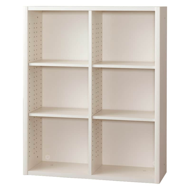書棚 EP−90オープンDホワイト+ホワイト:書棚