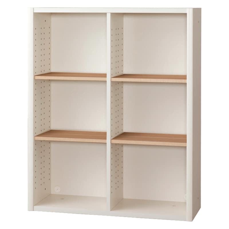 書棚 EP−90オープンDホワイト+チェリー:書棚