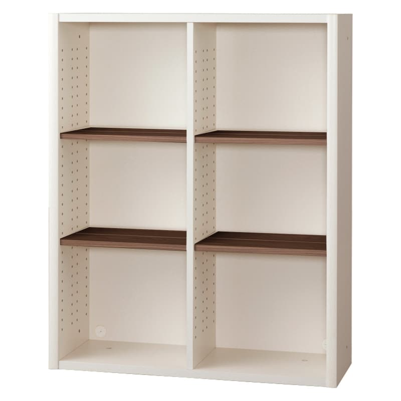 書棚 EP−90オープンDホワイト+モカ:書棚