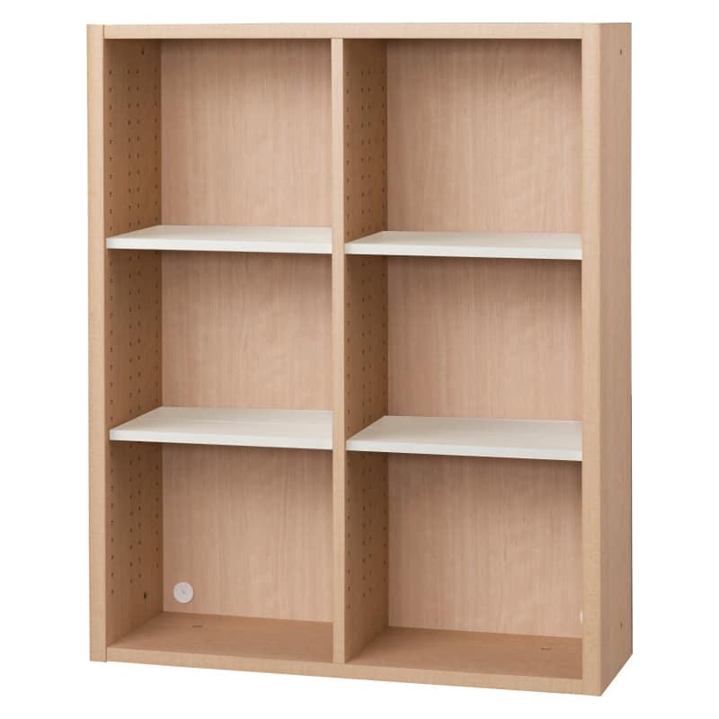 書棚 EP−90オープンDチェリー+ホワイト:書棚