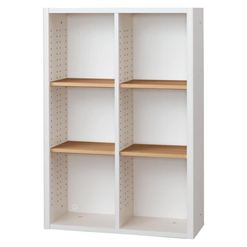 書棚 EP−75オープンDホワイト+チェリー:書棚