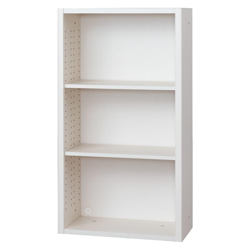 書棚 EP−60オープンDホワイト+ホワイト:書棚