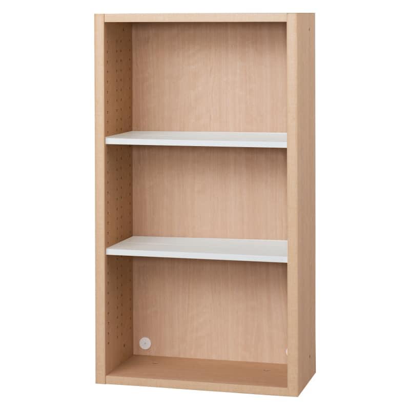 書棚 EP−60オープンDチェリー+ホワイト:書棚