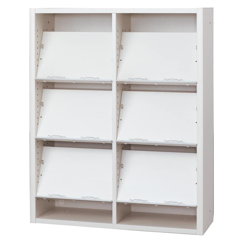 書棚 EP−90オープンEホワイト+ホワイト:書棚