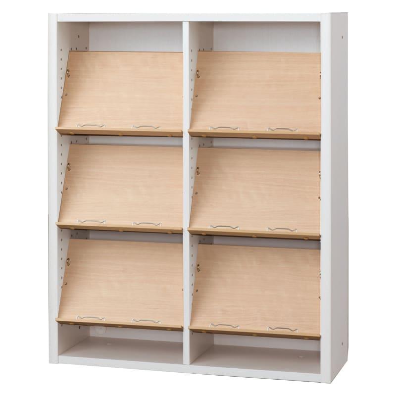 書棚 EP−90オープンEホワイト+チェリー:書棚