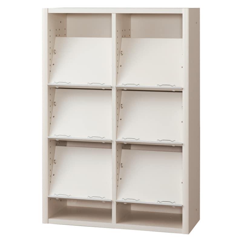 書棚 EP−75オープンEホワイト+ホワイト:書棚
