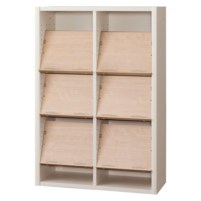 書棚 EP−75オープンEホワイト+チェリー:書棚