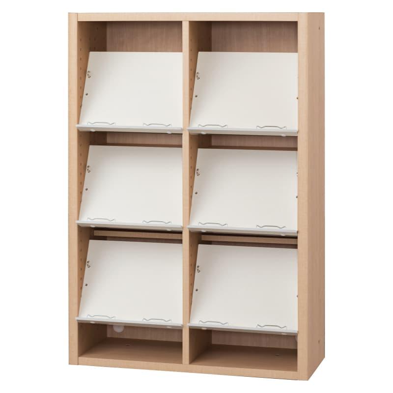 書棚 EP−75オープンEチェリー+ホワイト:書棚