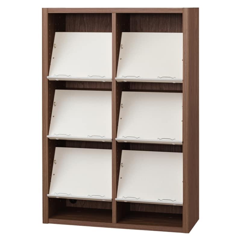 書棚 EP−75オープンEモカ+ホワイト:書棚