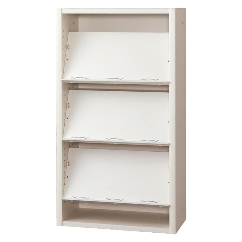 書棚 EP−60オープンEホワイト+ホワイト:書棚