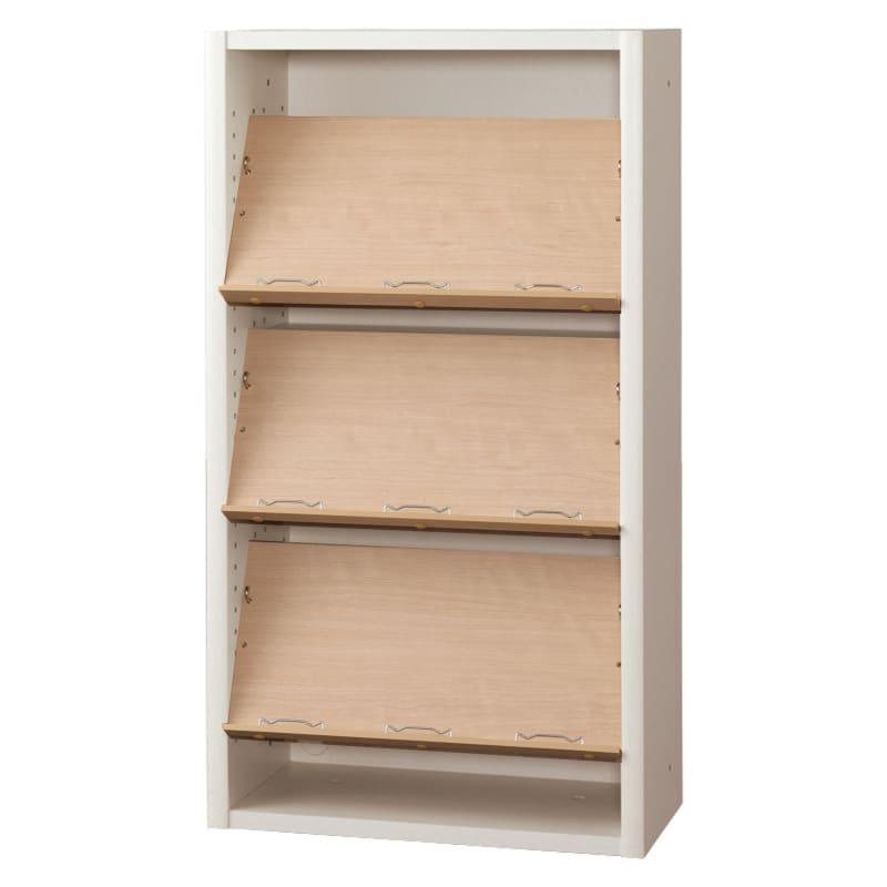 書棚 EP−60オープンEホワイト+チェリー:書棚