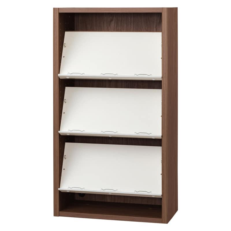 書棚 EP−60オープンEモカ+ホワイト:書棚
