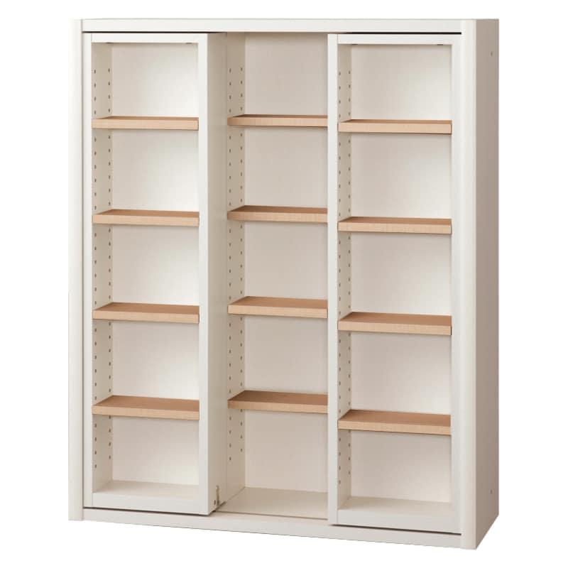 書棚 EP−90スライドFホワイト+チェリー:書棚