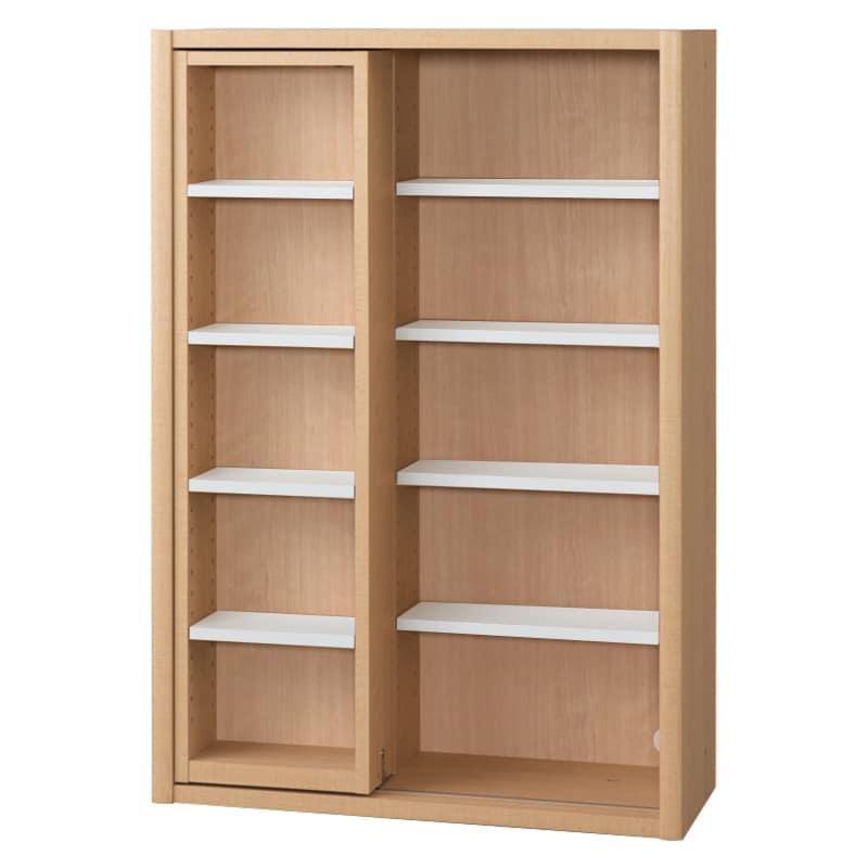 書棚 EP−75スライドFチェリー+ホワイト:書棚