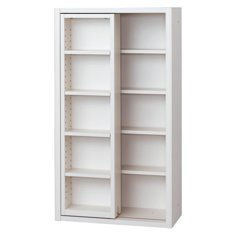 書棚 EP−60スライドFホワイト+ホワイト:書棚