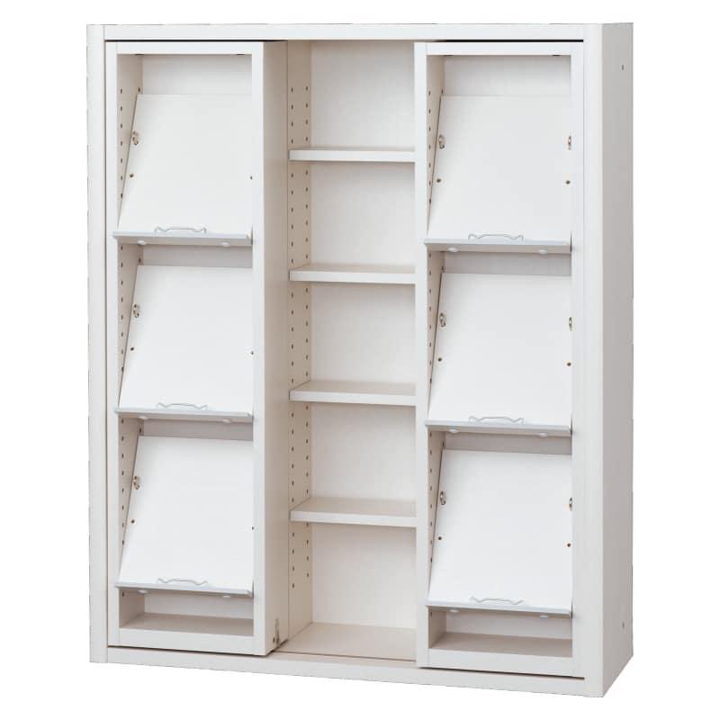 書棚 EP−90スライドGホワイト+ホワイト:書棚