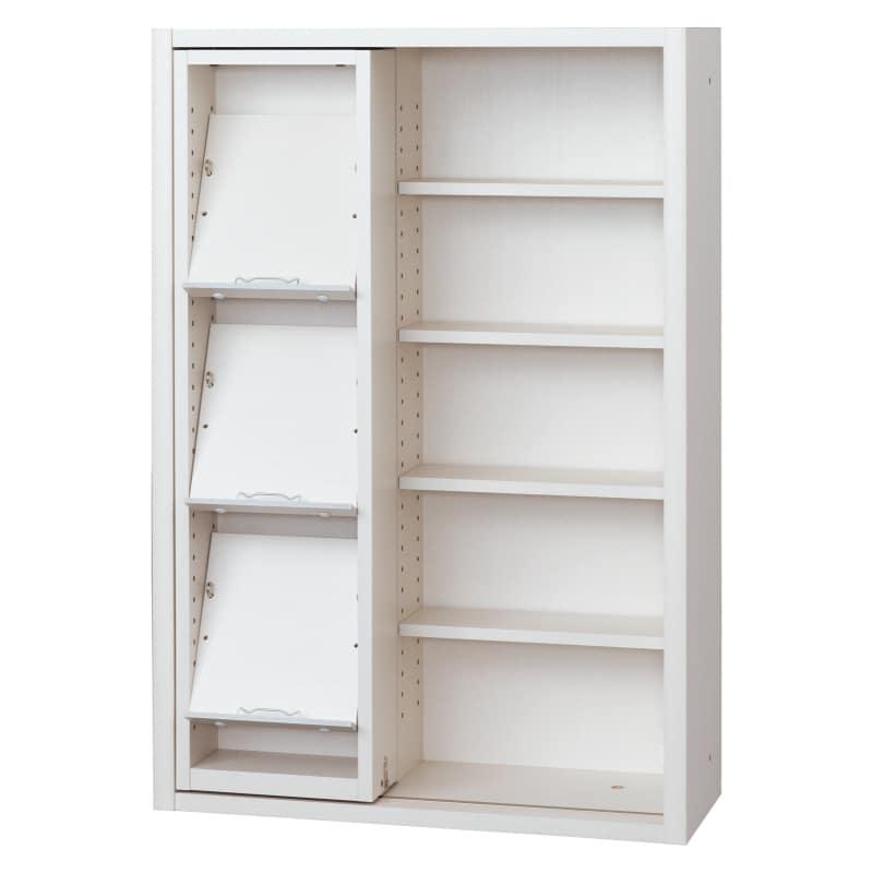 書棚 EP−75スライドGホワイト+ホワイト:書棚