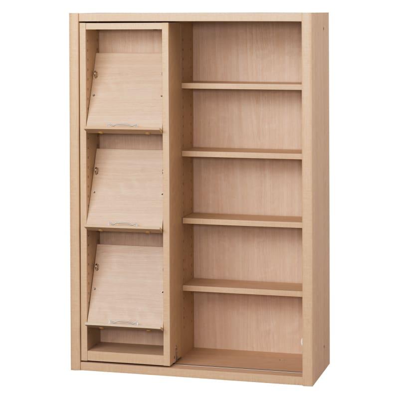 書棚 EP−75スライドGチェリー+チェリー:書棚