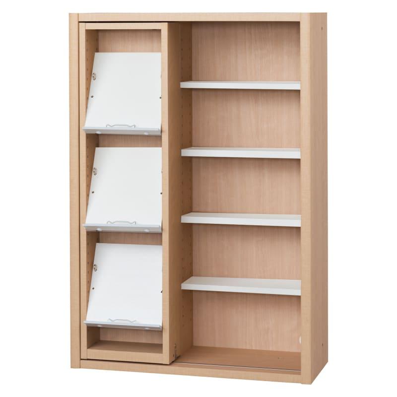 書棚 EP−75スライドGチェリー+ホワイト:書棚