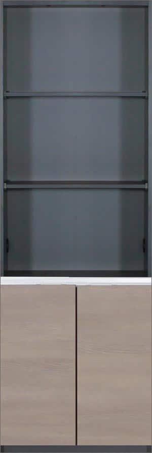 壁面収納 グロリア GL−B60SK エルムモカ:壁面収納グロリア