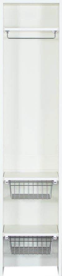 壁面収納 グロリア GL−W40U ホワイト:壁面収納グロリア