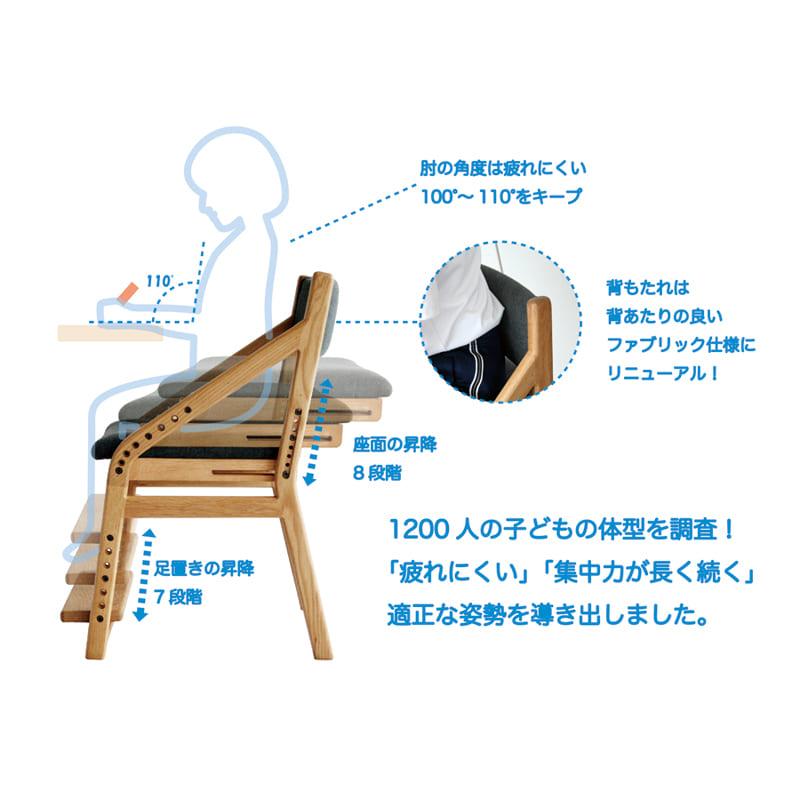木製チェア 頭の良い子を目指す椅子 B−TOKO JUC−2877 NA