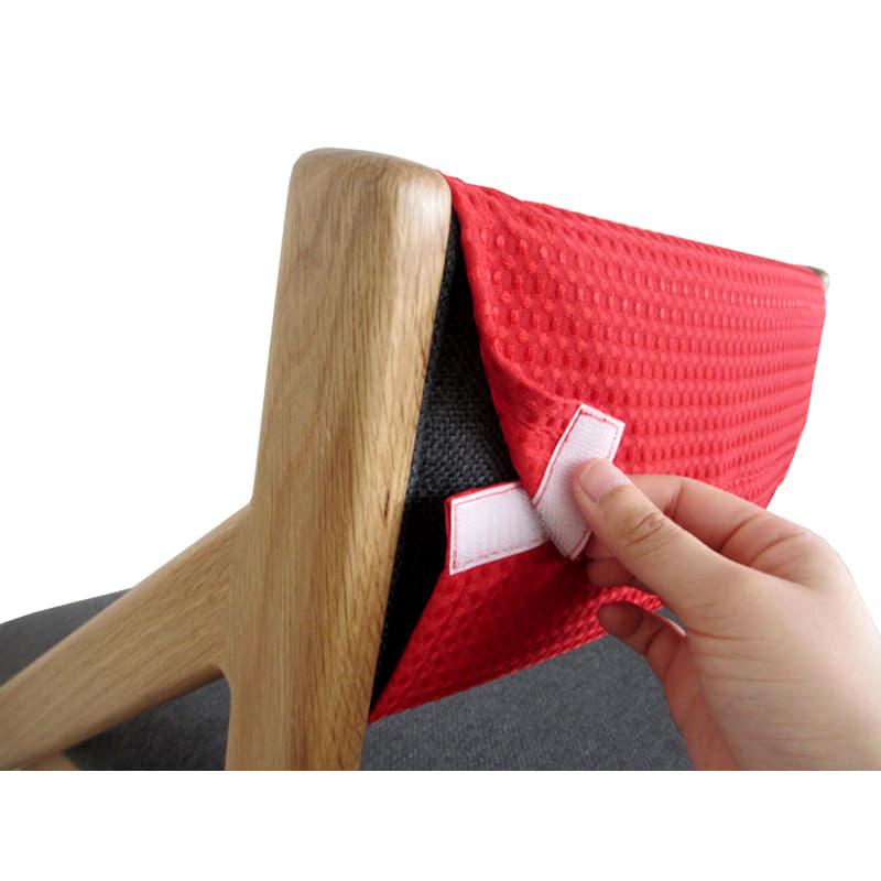 チェアカバー 頭の良い子を目指す椅子専用 E−TOKO JUC−2891 RE
