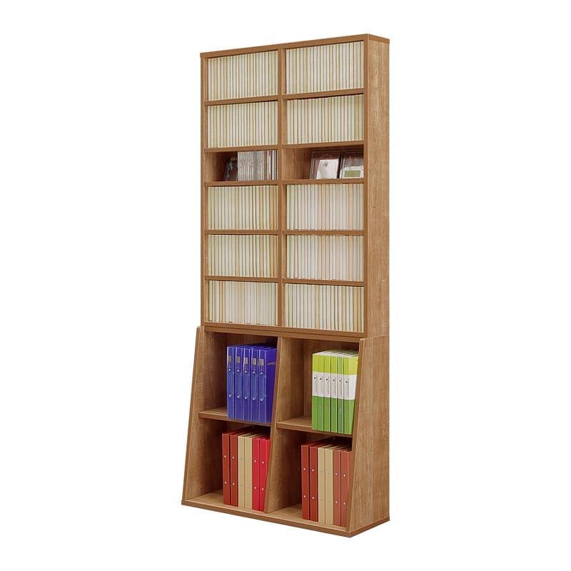 書棚 コミックタワー 90上下段セット(NA):薄型省スペースタイプの書棚「コミックタワー」