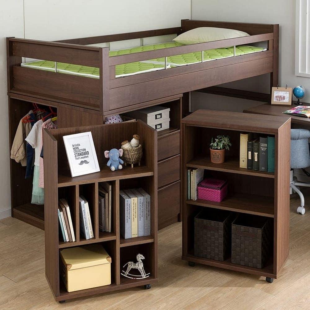 システムベッド コネクト�Y WH木目:シンプルなデザインだから大人になっても使えます